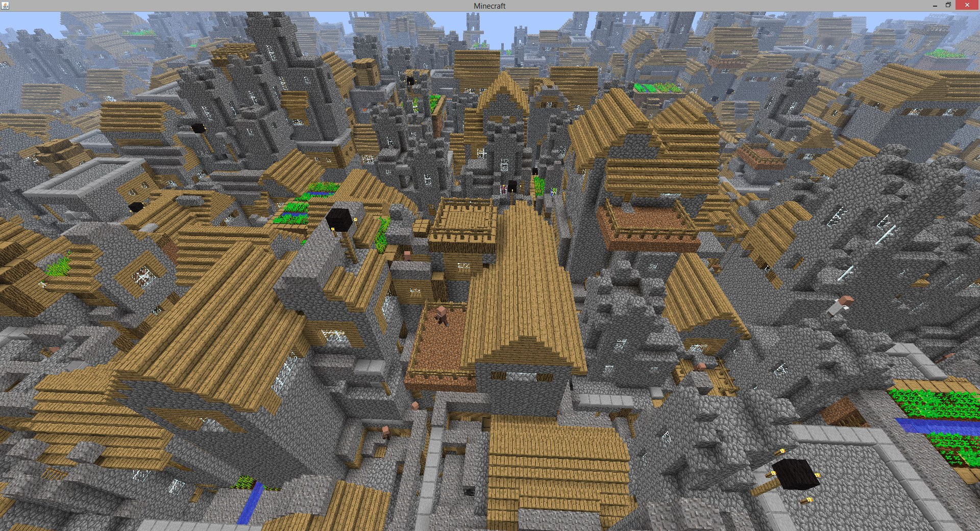 I Buffed the Village Size to almost infinite  Preset in